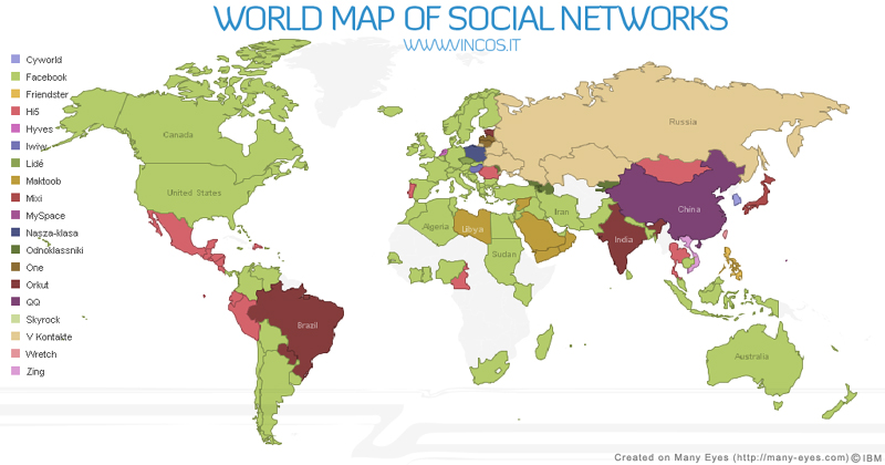 Socialnetworksmap